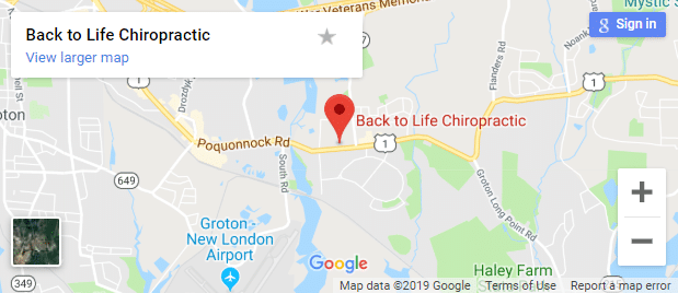 Map of Groton Chiropractors